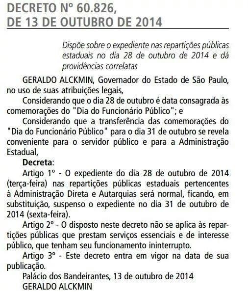Dia do Funcionário Público