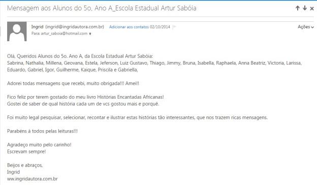 e-mail autora